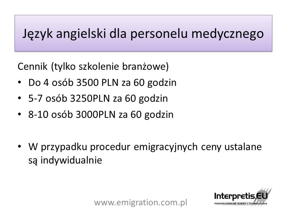 Język angielski dla personelu medycznego