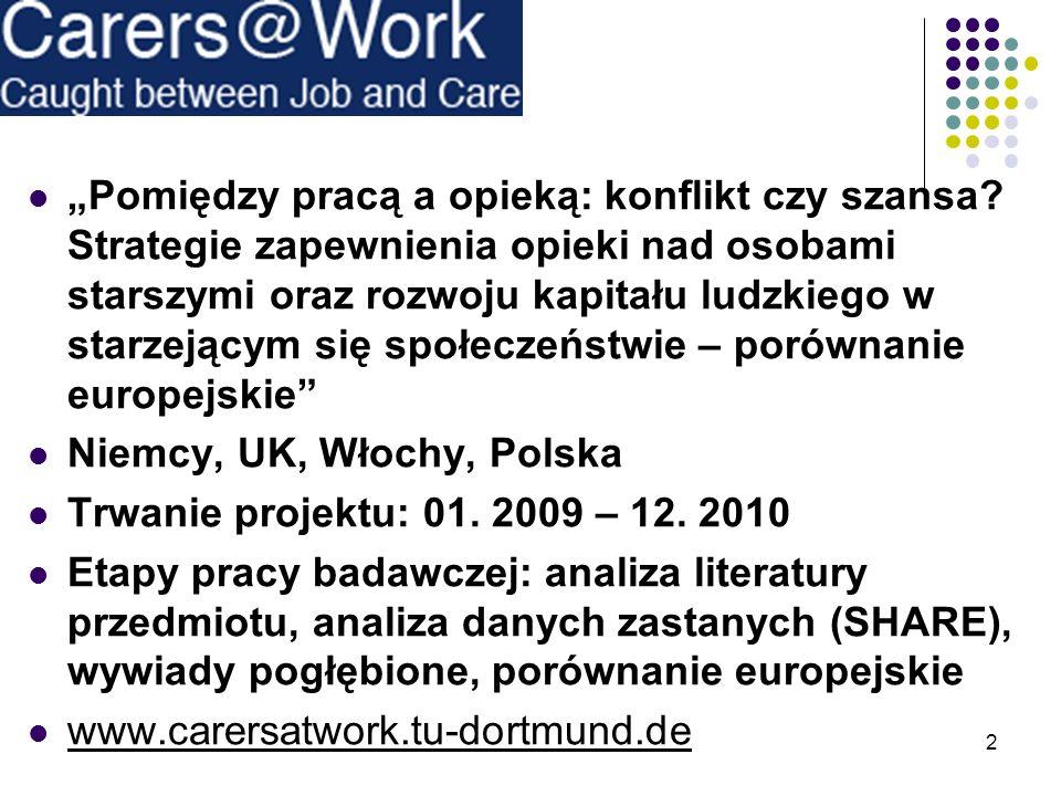 """""""Pomiędzy pracą a opieką: konflikt czy szansa"""