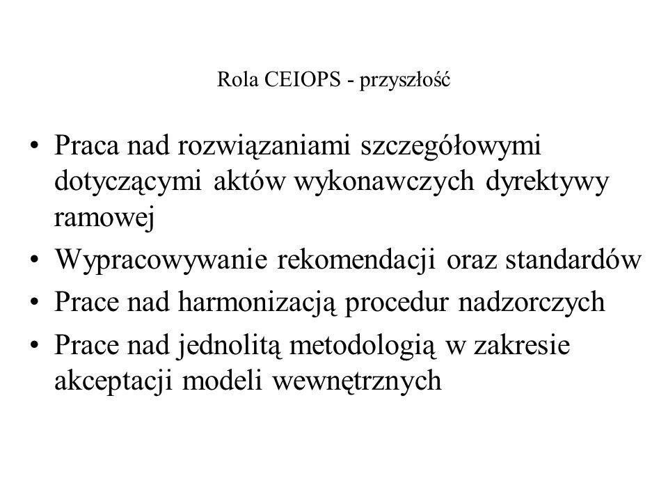 Rola CEIOPS - przyszłość