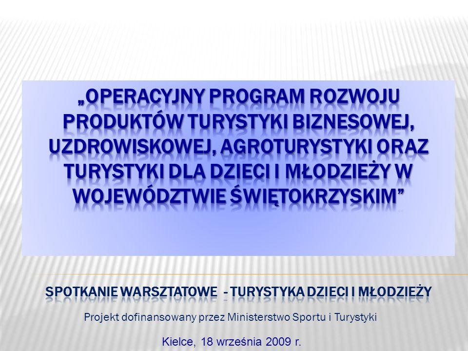 Projekt dofinansowany przez Ministerstwo Sportu i Turystyki