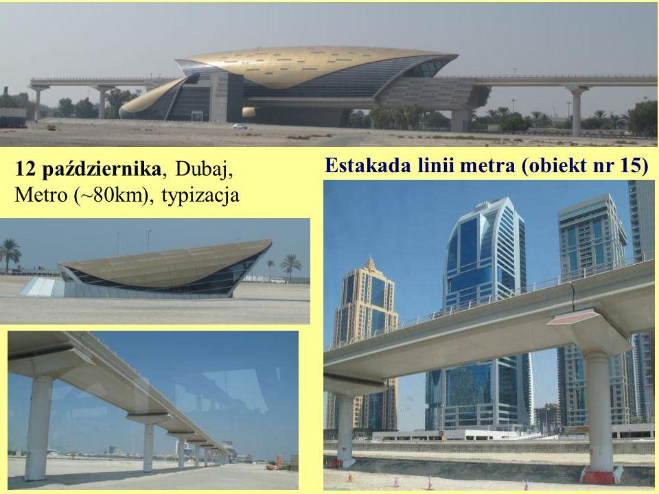 12 października, Dubaj, Metro (~80km), typizacja