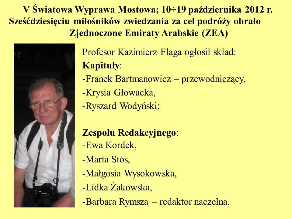 V Światowa Wyprawa Mostowa; 10÷19 października 2012 r.