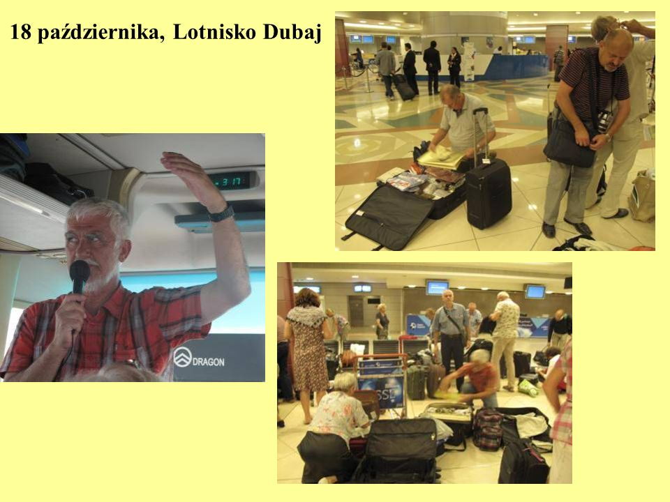 18 października, Lotnisko Dubaj