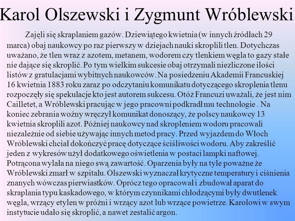 Karol Olszewski i Zygmunt Wróblewski