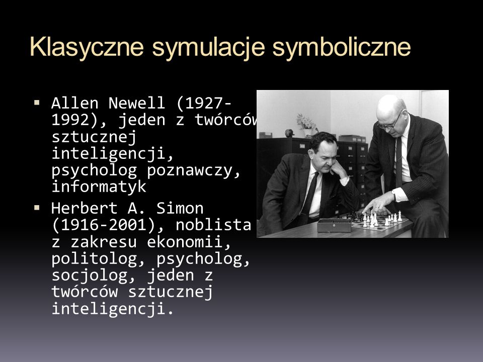 Klasyczne symulacje symboliczne