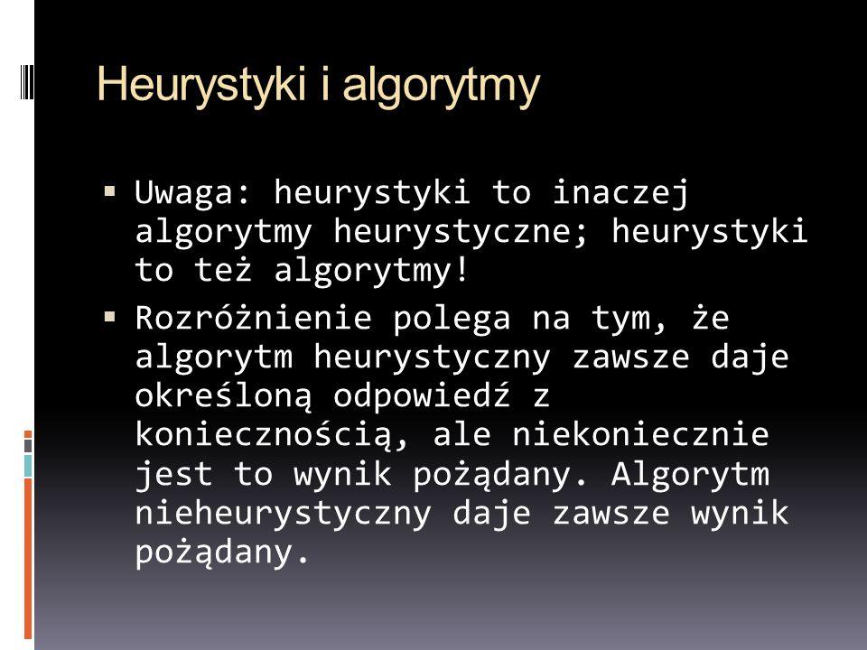 Heurystyki i algorytmy
