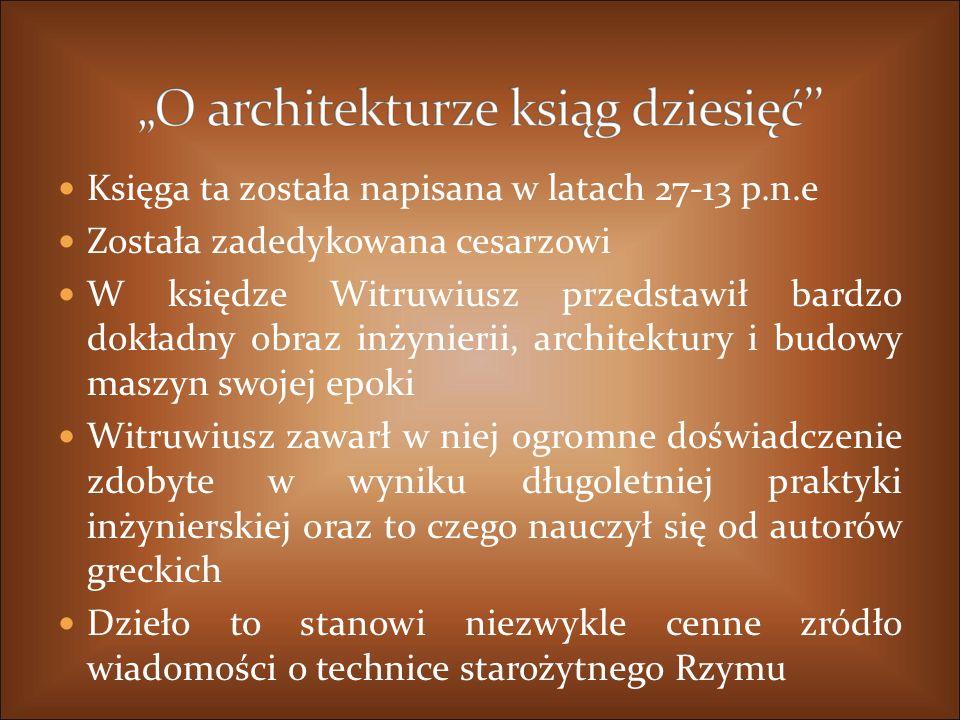 """""""O architekturze ksiąg dziesięć''"""
