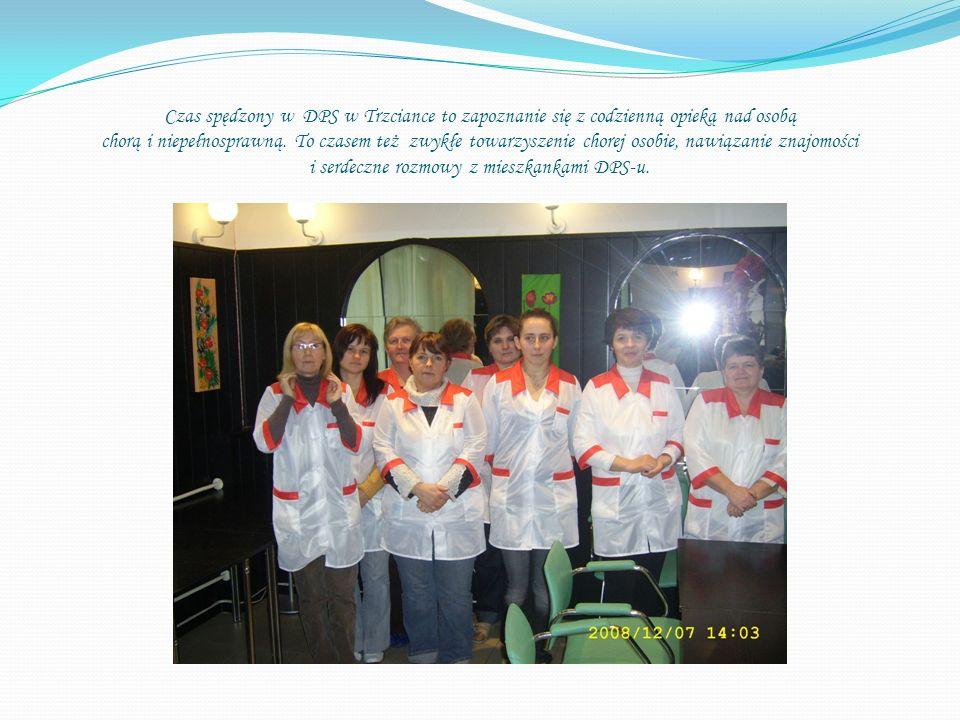 Czas spędzony w DPS w Trzciance to zapoznanie się z codzienną opieką nad osobą chorą i niepełnosprawną.
