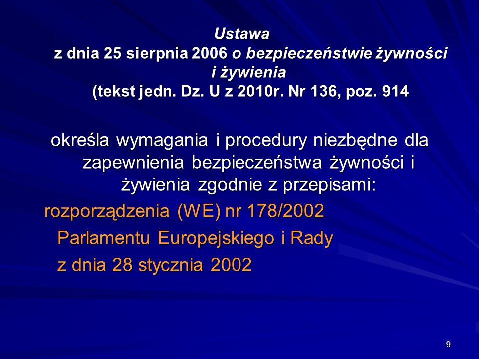 rozporządzenia (WE) nr 178/2002 Parlamentu Europejskiego i Rady