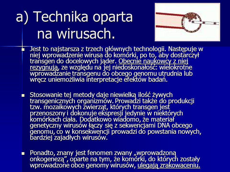 a) Technika oparta na wirusach.