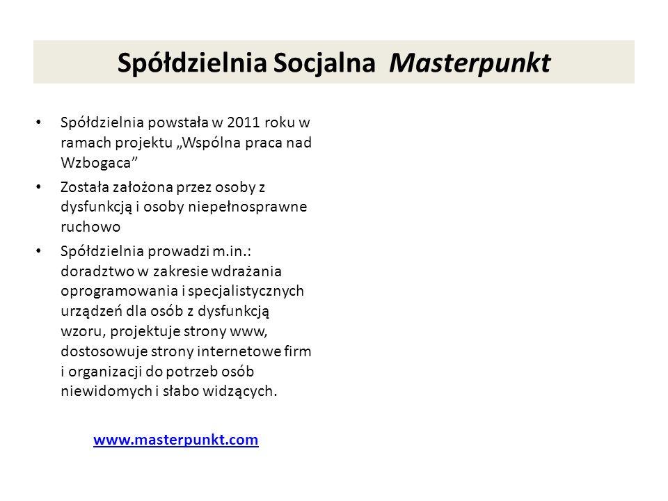 Spółdzielnia Socjalna Masterpunkt