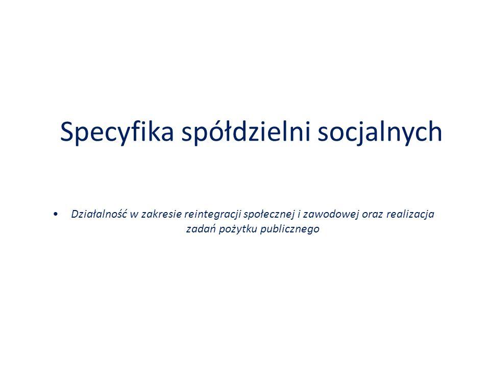 Specyfika spółdzielni socjalnych
