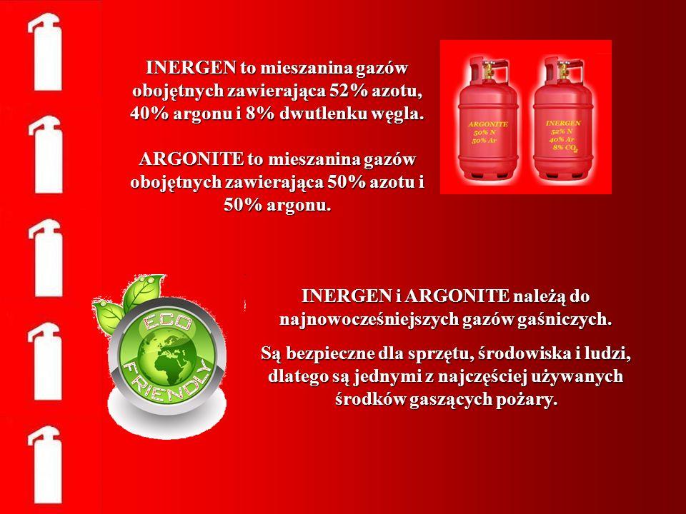 INERGEN i ARGONITE należą do najnowocześniejszych gazów gaśniczych.