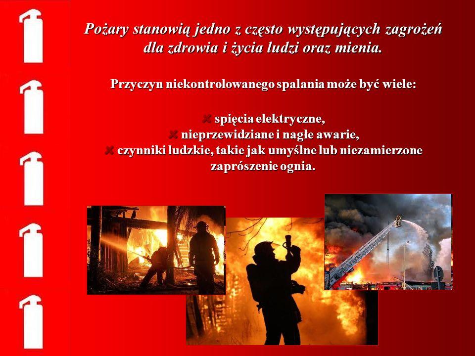 Pożary stanowią jedno z często występujących zagrożeń dla zdrowia i życia ludzi oraz mienia.
