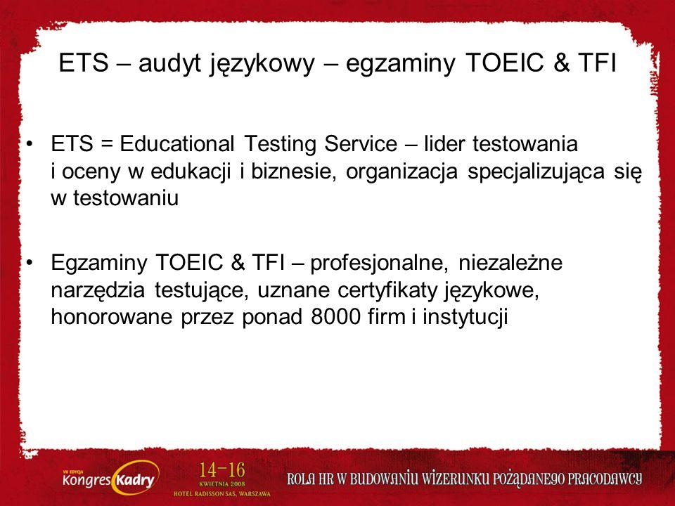 ETS – audyt językowy – egzaminy TOEIC & TFI
