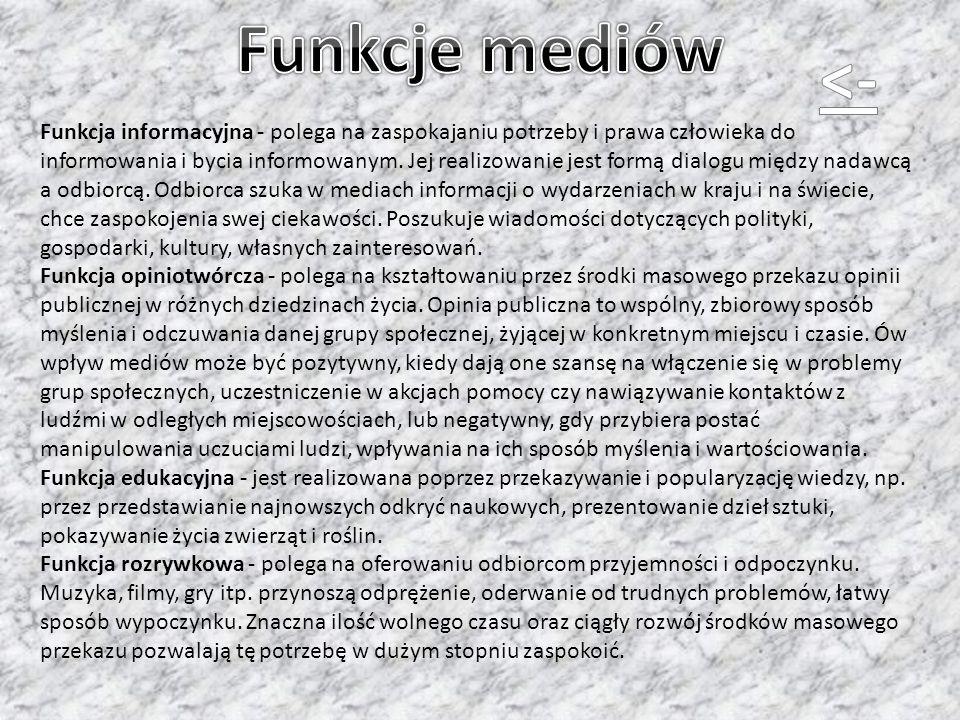 Funkcje mediów <-