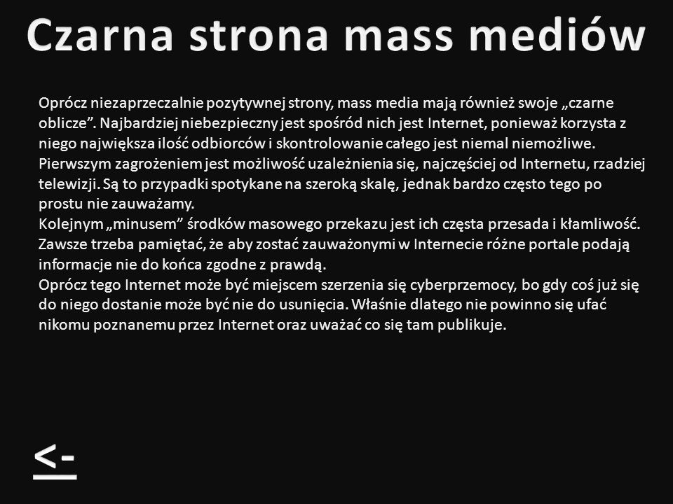 Czarna strona mass mediów