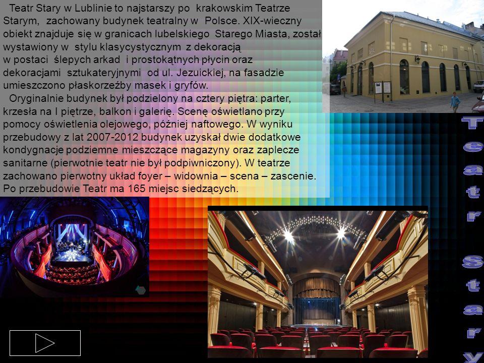 Teatr Stary w Lublinie to najstarszy po krakowskim Teatrze Starym, zachowany budynek teatralny w Polsce. XIX-wieczny obiekt znajduje się w granicach lubelskiego Starego Miasta, został wystawiony w stylu klasycystycznym z dekoracją w postaci ślepych arkad i prostokątnych płycin oraz dekoracjami sztukateryjnymi od ul. Jezuickiej, na fasadzie umieszczono płaskorzeźby masek i gryfów.