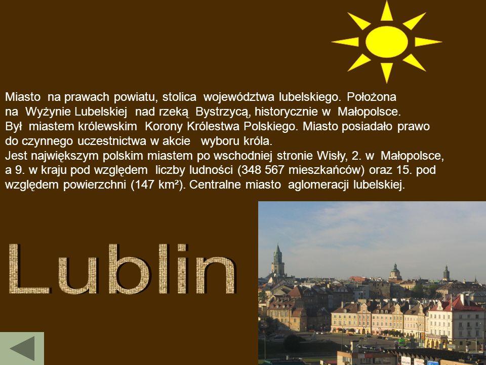 Miasto na prawach powiatu, stolica województwa lubelskiego