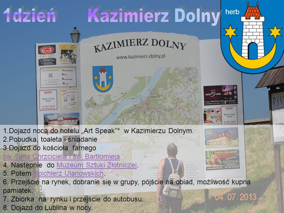 1dzień Kazimierz Dolny herb