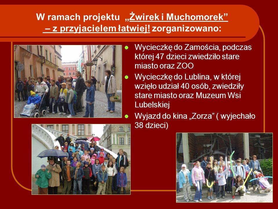"""W ramach projektu """"Żwirek i Muchomorek – z przyjacielem łatwiej"""