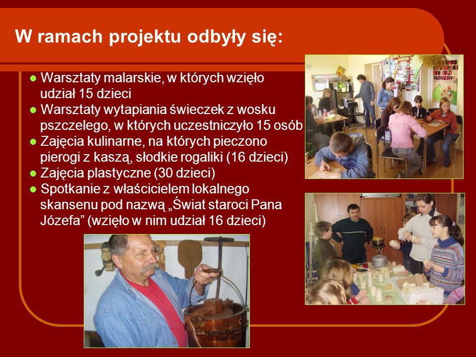 W ramach projektu odbyły się: