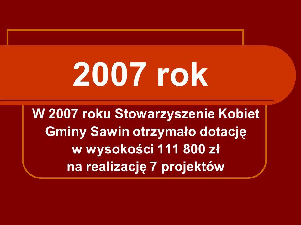 2007 rok W 2007 roku Stowarzyszenie Kobiet