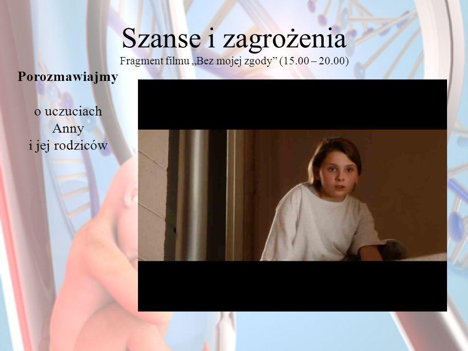 """Szanse i zagrożenia Fragment filmu """"Bez mojej zgody (15.00 – 20.00)"""