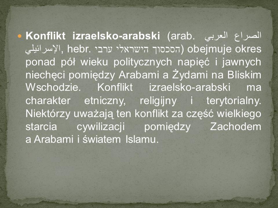 Konflikt izraelsko-arabski (arab. الصراع العربي الإسرائيلي, hebr