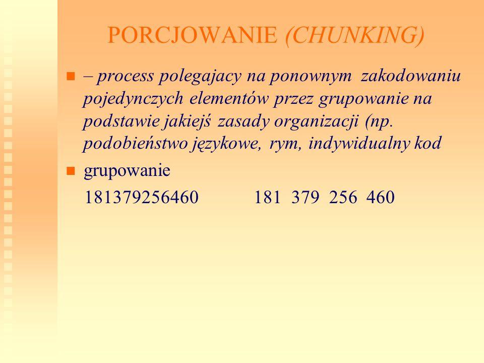 PORCJOWANIE (CHUNKING)