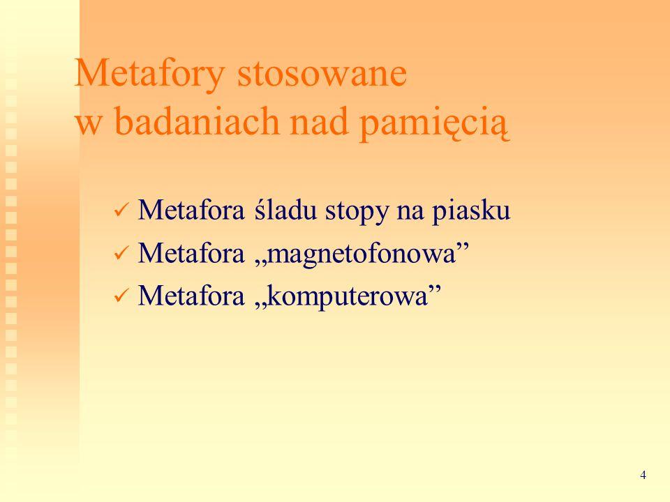 Metafory stosowane w badaniach nad pamięcią