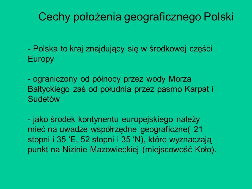 Cechy położenia geograficznego Polski