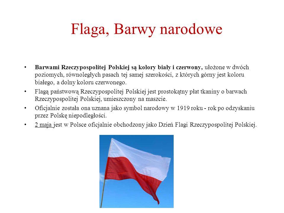 Flaga, Barwy narodowe