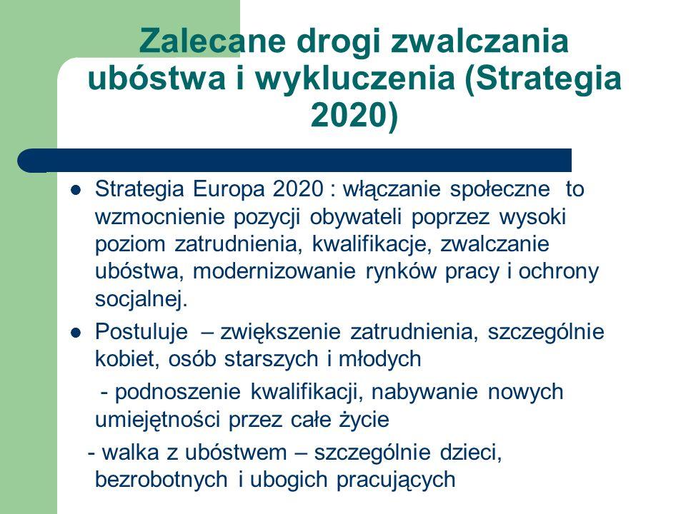 Zalecane drogi zwalczania ubóstwa i wykluczenia (Strategia 2020)