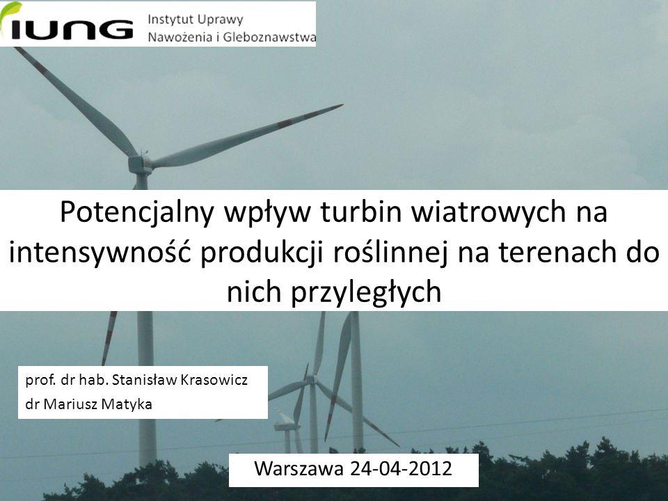 Potencjalny wpływ turbin wiatrowych na intensywność produkcji roślinnej na terenach do nich przyległych
