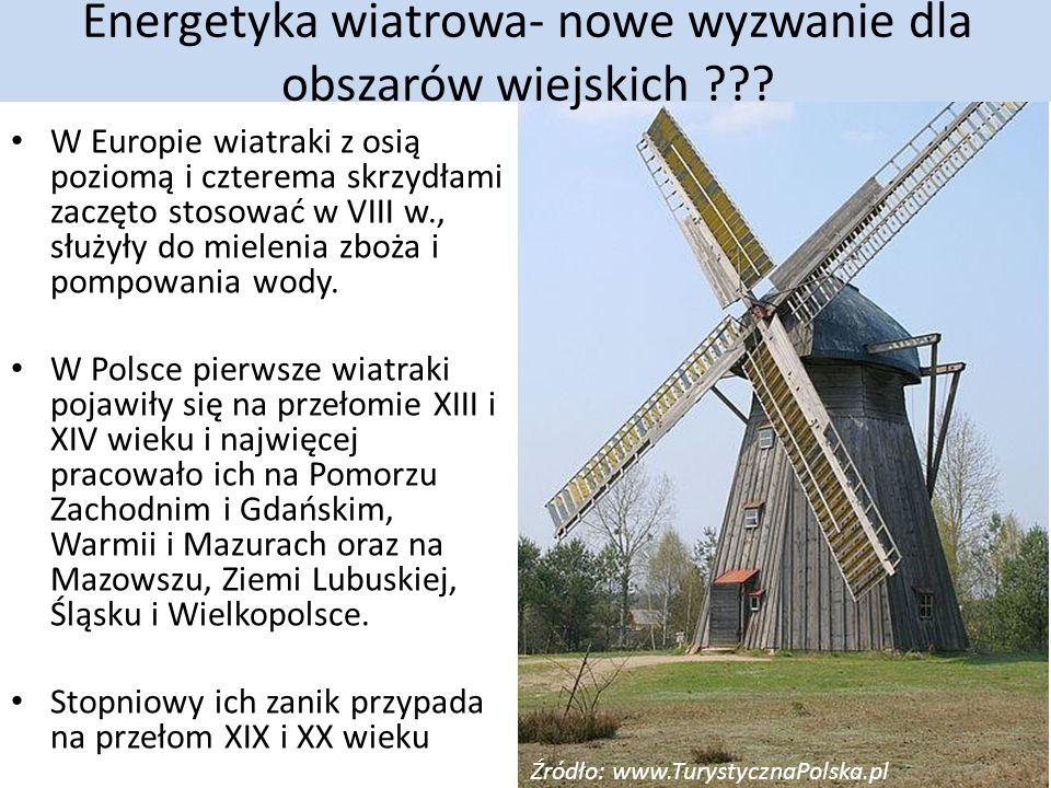 Energetyka wiatrowa- nowe wyzwanie dla obszarów wiejskich