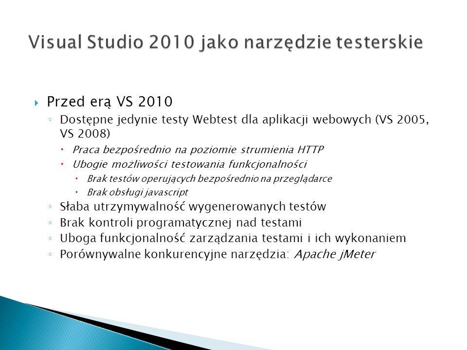 Visual Studio 2010 jako narzędzie testerskie