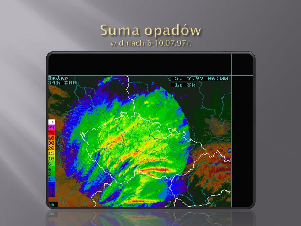 Suma opadów w dniach 6-10.07.97r.