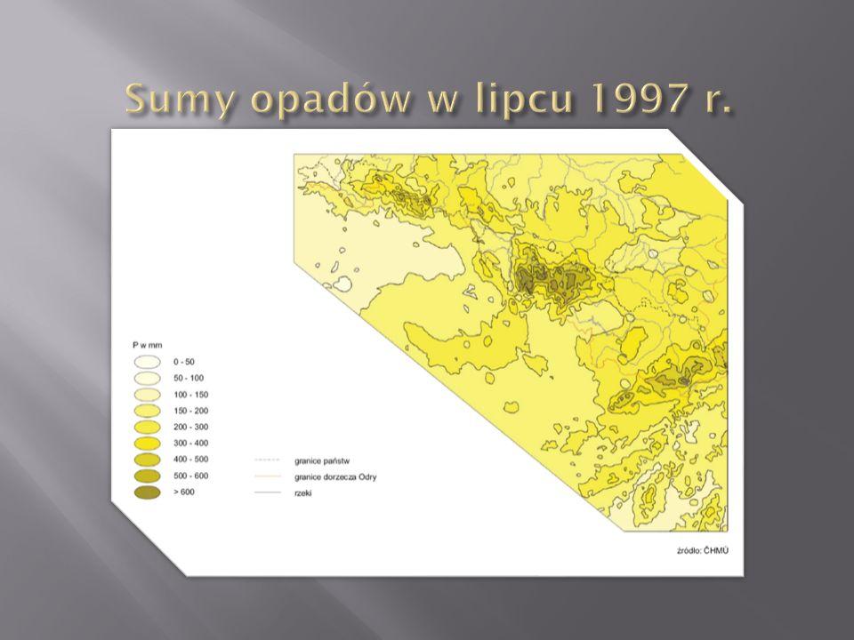 Sumy opadów w lipcu 1997 r.