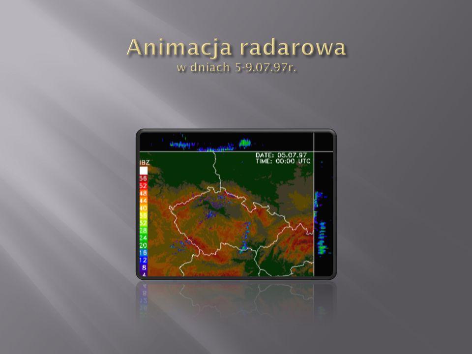 Animacja radarowa w dniach 5-9.07.97r.