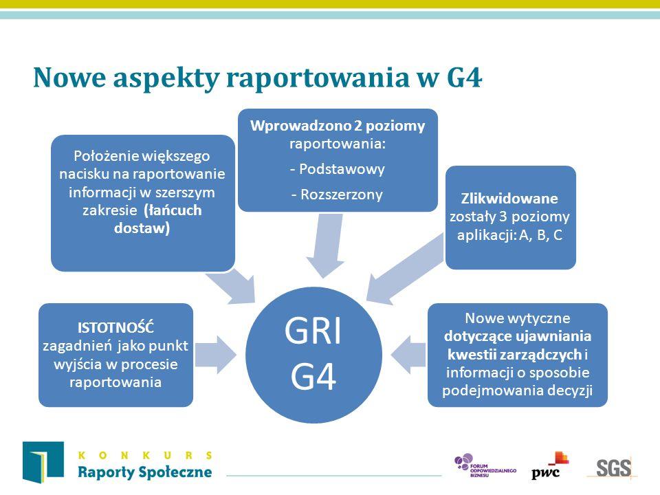 GRI G4 Nowe aspekty raportowania w G4