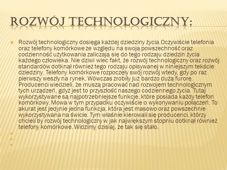 Rozwój technologiczny: