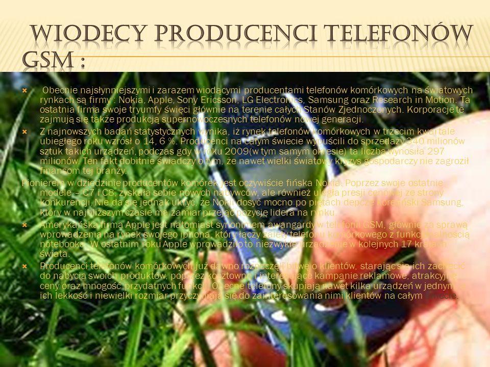 Wiodący producenci telefonów GSM :