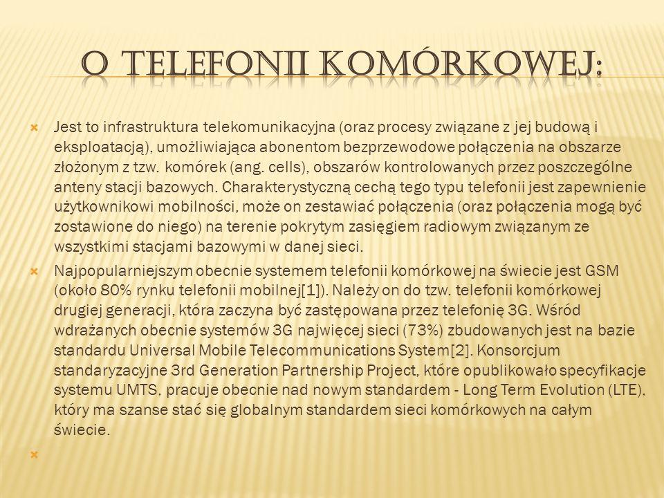o telefonii komórkowej:
