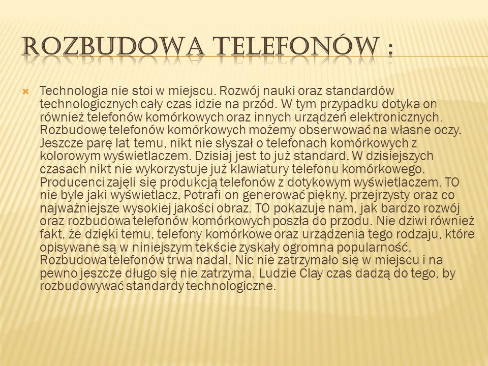 Rozbudowa telefonów :