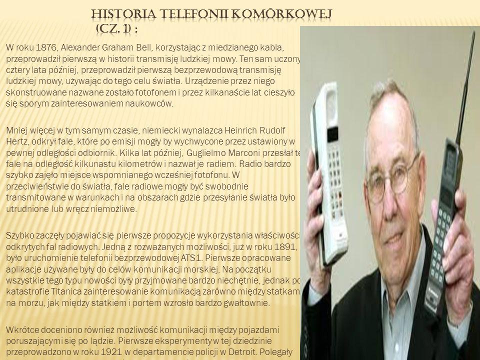 Historia telefonii komórkowej (cz. 1) :