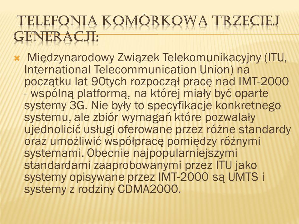 Telefonia komórkowa trzeciej generacji: