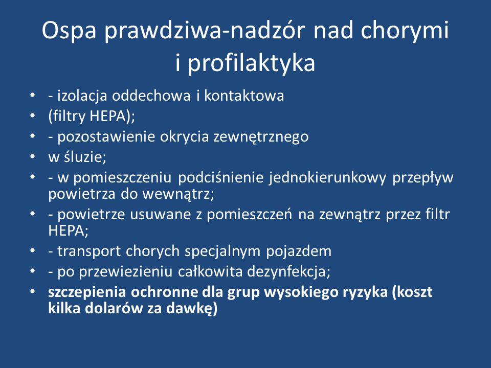 Ospa prawdziwa-nadzór nad chorymi i profilaktyka