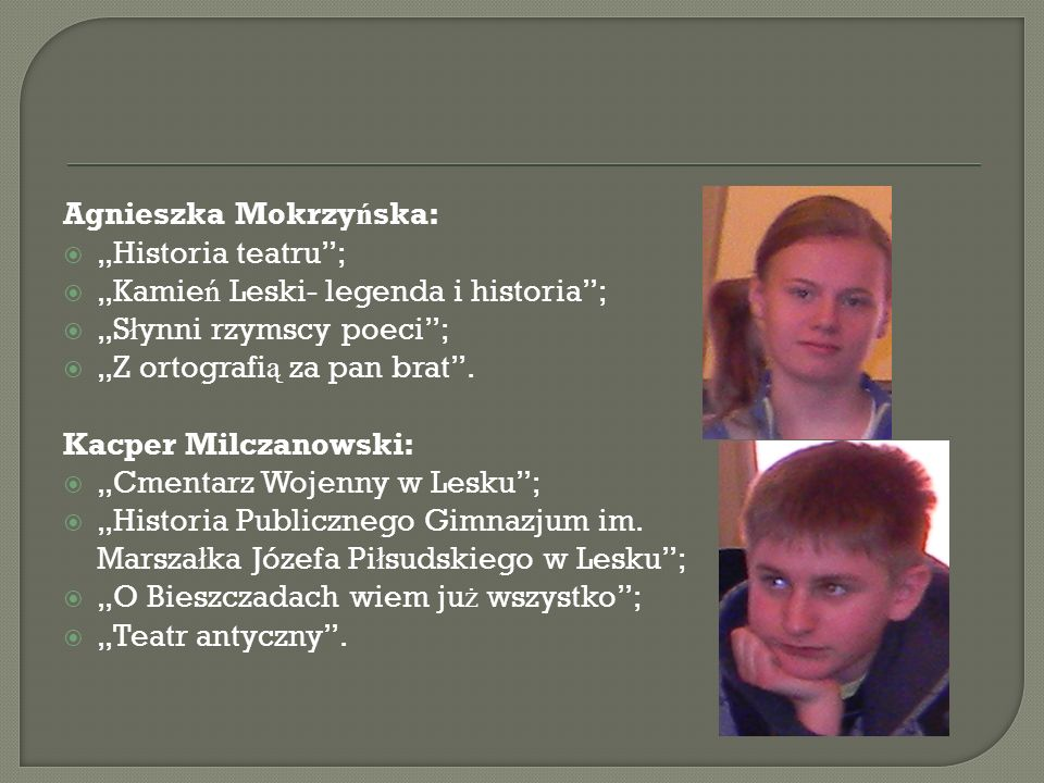 Agnieszka Mokrzyńska: