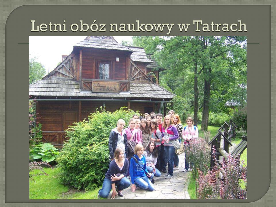Letni obóz naukowy w Tatrach